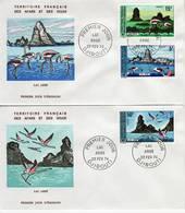 Afars Et Issas, 1974, Paysages Du Lac Abbé, PA 384, 385, 386, FDC 22 Février 1974 Djibouti - Stamps