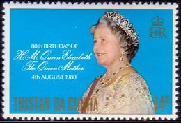 TRISTAN DA CUNHA 1980 SG #282 14p MNH Queen Mother - Tristan Da Cunha