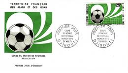 Afars Et Issas, 1974, Coupe Du Monde De Football à Munich, 387, FDC 24 Mai 1974 Djibouti - Stamps