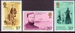 TRISTAN DA CUNHA 1981 SG #300-02 Compl.set MNH Revd. Edwin Dodgson's Arrival - Tristan Da Cunha