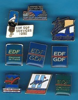 9 PIN'S //  ** EDF / GDF ** - EDF GDF