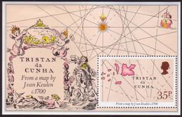 TRISTAN DA CUNHA 1981 SG #304-07 M/s MH Early Maps - Tristan Da Cunha