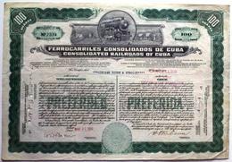 Ferrocarriles Consolidados De Cuba - Railway & Tramway