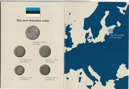 Estonia 1992 Eesti Pank Coin Set - Estonia