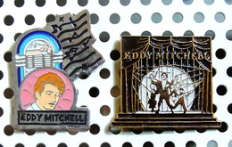 Lot De 2 Pin's Eddy Mitchell - Music