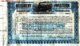 Allegheny And Western Railway Company - Railway & Tramway