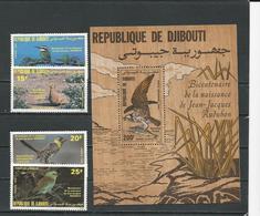DJIBOUTI Scott 590-593, 593A Yvert 596-599, BF4 (4+bloc Bois) ** Cote 38,00 $ 1985 - Djibouti (1977-...)