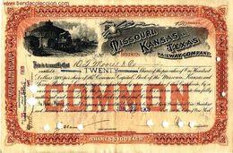 Missouri, Kansas And Texas, Railway Company. - Chemin De Fer & Tramway