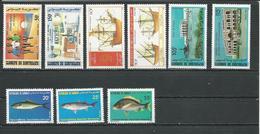 DJIBOUTI Scott 612-3, 614-5, 616-8, 619-0 Yvert 618-619, 620-621, 622-624, 625-626 (9) ** Cote 13,00 $ 1986 - Djibouti (1977-...)