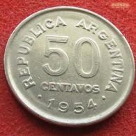Argentina 50 Centavos 1954 KM# 49 Argentine - Argentina