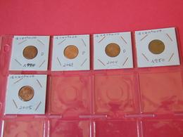 5 Monedas De 1 Centavo Usa - EDICIONES FEDERALES