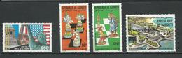 DJIBOUTI Scott 623, C222, C225-C226 Yvert 628, PA226, PA229-PA230 (4) ** Cote 10,50 $ 1986 - Djibouti (1977-...)