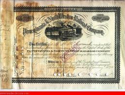 Pennsylvania & North Western Railroad Company, 1890 - Railway & Tramway