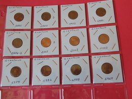 12 Monedas De 1 Centavo Usa - EDICIONES FEDERALES