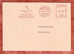 Brief, Hasler C23-2923, Olympia 2000 In Berlin, 100 Pfg, 1992 (50025) - Berlin (West)