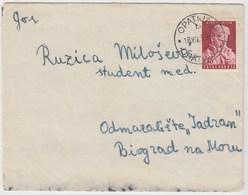 Yugoslavia 1953 Nikola Tesla, Letter From Opatija To Biograd Na Moru - 1945-1992 Socialist Federal Republic Of Yugoslavia