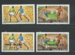 DJIBOUTI Scott C220-C221, C223-C224 Yvert PA224-PA225, PA227-PA228 (4) ** Cote 7,10 $ 1986 - Djibouti (1977-...)