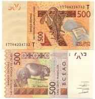 West African States - 500 Francs 2017 UNC Letter T Lemberg-Zp - West African States