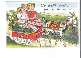 D 31  LUCHON  CARTE A SYSTEME... En Route Pour Luchon......  Attelage - France