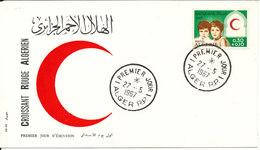Algeria FDC 27-5-1967 With Cachet Red Cross With Cachet - Algeria (1962-...)