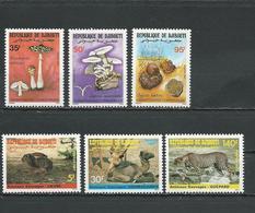 DJIBOUTI Scott 625-627, 628-630 Yvert 630-632, 633-635 (6) ** Cote 11,75 $ 1987 - Djibouti (1977-...)