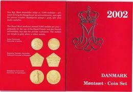 Denmark Set 7 Coins 2002 UNC - Denmark