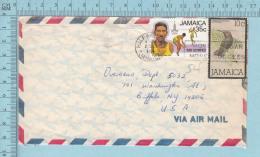 Jamaica  - Air Mail, Envelope Cover Half Way  1981 Send To  Buffalo USA - Jamaique (1962-...)