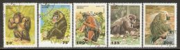 Benin 1995 Mi# 638-642 Used - Apes - Benin - Dahomey (1960-...)