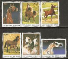 Benin 1996 Mi# 830-835 Used - Horses - Benin - Dahomey (1960-...)