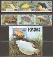 Benin 1999 Mi# 1163-1168, Block 49 Used - Fish - Benin - Dahomey (1960-...)