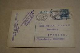 Belle Oblitération Militaire Gent - Anvers,1916, Occupation Allemande,guerre 14-18,carte Manuscrite - WW I