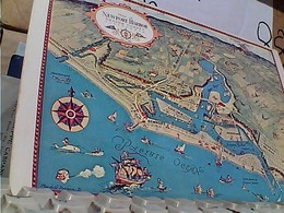 USA  CALIFORNA NEWPORT HARBOUR ORANGE CONTY CARTINA MAP N1975  GR1029 MAXY CARD   23 X 15 - San Francisco