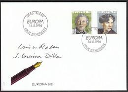Switzerland 1996 / Europa CEPT / Famous Women - Corinna Bille, Iris Von Roten-Meyer / FDC - FDC