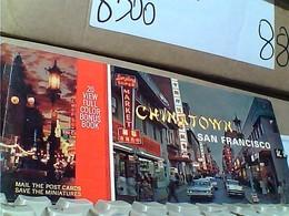 10 POST CARD USA  CALIFORNA SAN FRANCISCO AUTO CAR TRAM  CHINATOWN N1975  GR1030 BLOCK CARD   20,5 X 9 - San Francisco