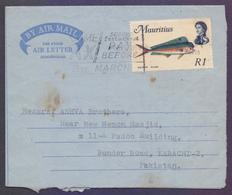MAURITIUS Postal History - Old Aerogramme, Used 1978 With Slogan Postmark - Maurice (1968-...)