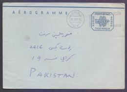 NORWAY NORGE Postal History - TAXE PERCUE Aerogramme Stationery, Used 30.5.1983 With Slogan Postmark - Enteros Postales