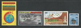 DJIBOUTI ScottC238, C240, C242, J5 Yvert PA241, PA243, PA245, Taxe 5 (4) ** Cote 10,50 $ 1988 - Djibouti (1977-...)