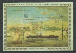 S.TOME E PRINCIPE - MNH - Transport - Ships - U.P.U. - 1984 - Bateaux