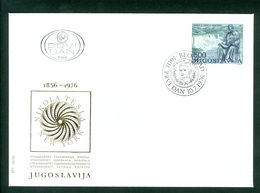 Yugoslavia 1976 FDC Niagara Falls Tesla - 1945-1992 Socialist Federal Republic Of Yugoslavia