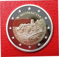 MONACO 2015 2 Euro In PP, BE, Proof  800 JAHRE Bau Des Schlosses Auf Dem Felsen. - Monaco