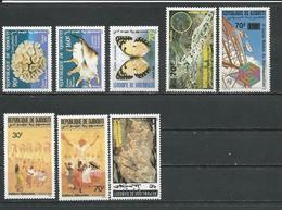DJIBOUTI Scott 642-3, 644, 646-748-9, 655 Yvert 647-648, 649, 650-651, 652-653, 658 (8) ** Cote 14,25 $ 1989 - Djibouti (1977-...)