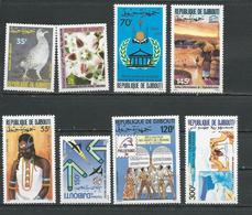DJIBOUTI Scott 651-654, 656, C243-5 Yvert 654, 655, 656, 657, 659, PA246, PA247, PA248 (8) ** Cote 16,50 $ 1989 - Djibouti (1977-...)