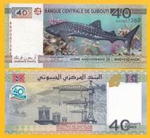 Djibouti 40 Francs P-46 2017 (Prefix AA) Commemorative UNC - Djibouti