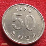 Korea South 50 Won 1988 KM# 34 Coreia Do Sul Corea - Korea, South