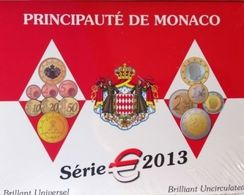 Monaco 2013 KMS 5, 88 Euro, Incl. 2013 2 Euro Albert II + 2 Euro UNO.  AUFLAGE 10 000. - Monaco