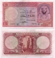 Egypt - 10 Pounds 1958 XF Lemberg-Zp - Egypte