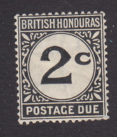 British Honduras, Scott #J2a, Mint Hinged, Postage Due, Issued 1923 - British Honduras (...-1970)