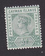 Cayman Islands, Scott #1, Mint Hinged, Victoria, Issued 1900 - Cayman Islands