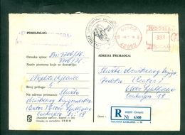 Yugoslavia 1976 Tesla Birth 100 Years Smiljan  Mailed Letter From Gospic To Ljubljana - 1945-1992 Socialist Federal Republic Of Yugoslavia