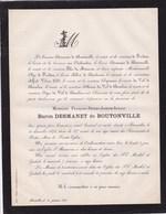 BRUXELLES ANNEVOIE Baron François DESMANET De BOUTONVILLE 87 Ans 1873 Van OUTHEUSDEN De BEECKMAN De PARDIEU - Avvisi Di Necrologio